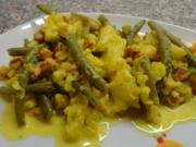 B & B Gemüse an Safransauce - Rezept