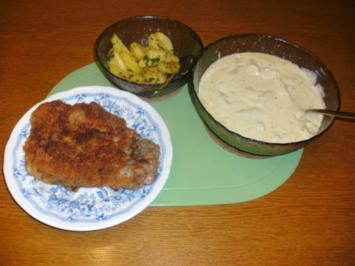 Schwarzwurzeln mit Butter-Petersilien-Kartoffeln und Panierten Koteletten - Rezept