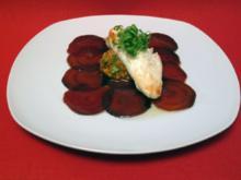 Rote Bete Carpaccio an Nusspesto und Filet vom Seeteufel - Rezept