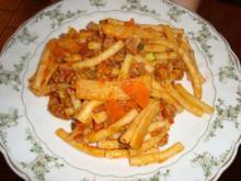 Nudel-Hack-Gemüse-Pfanne - Rezept
