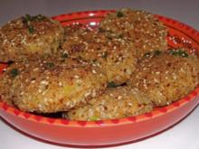 Beilagen: Knusprige Kokos-Reis-Taler - Rezept