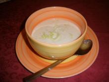 Schnelle Lauch - Käsecreme - Suppe - Rezept