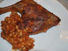 Bohnen-Tomaten-Topf mit Entenkeulen - Rezept
