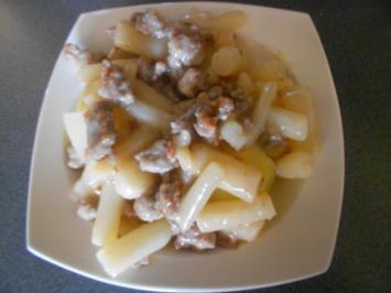 Schwarzwurzeln mit Hackfleisch und Kartoffeln - Rezept