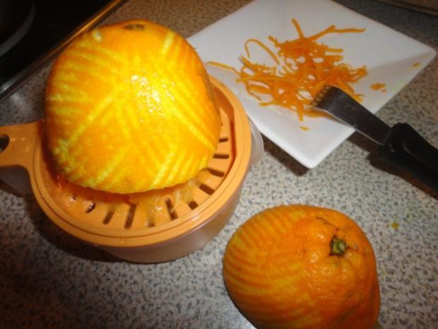 Orangen Panna Cotta an Campari-Reduktion - Rezept - Bild Nr. 4