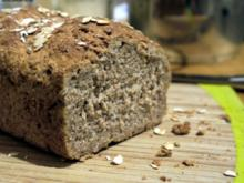 Weizenvollkornbrot mit Haferflocken und Buttermilch - Rezept