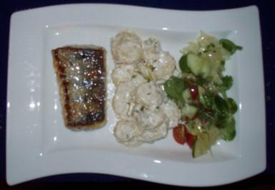 Zanderfilet mit zweierlei Salaten - Rezept
