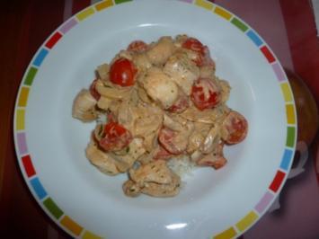 Pilzpfanne mit Hähnchen - Rezept