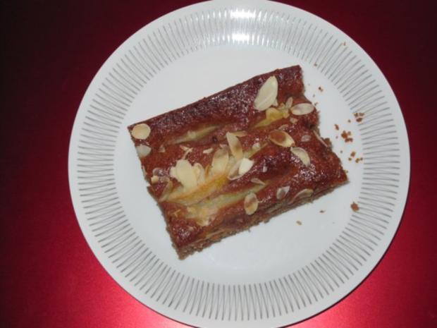 Birnenkuchen vom Blech - Rezept