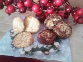 Buttertaler mit Kokos oder Kakaofüllung - Rezept
