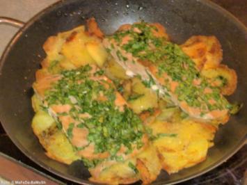 Lachs auf Knusperkartoffeln - Rezept