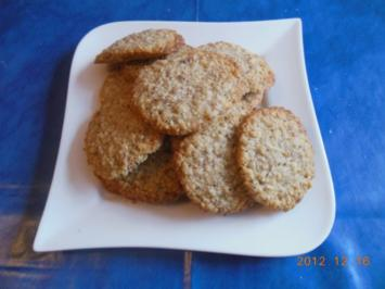 Gebäck:Haferflocken-Mandel-Plätzchen - Rezept