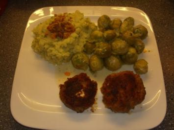 Buletten - Rosenkohl und Kartoffelstampf - Rezept