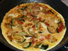 Zucchini-Tomaten-Omelett - Rezept