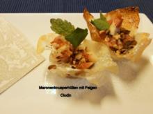 Maronen-Knusperhüllen mit frischen Feigen - Rezept