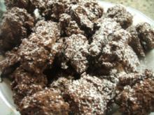 Plätzchen: Schokobusserl mit weihnachtlicher Ganache - Rezept