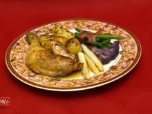 Goldbroiler mit Petersilienkartoffeln und Mischgemüse (Hanka Rackwitz) - Rezept