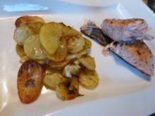 Lachsfilet mit würzigen Backofenkartoffeln - Rezept