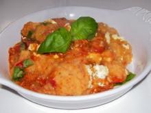 Mediterraner Kartoffelpüree-Gemüse-Auflauf mit Feta - Rezept