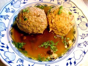 Speckknödel-Suppe... - Rezept - Bild Nr. 2