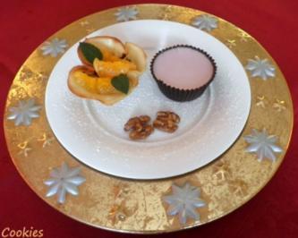 Glühwein - Panna Cotta im Schokoladenmantel ... - Rezept