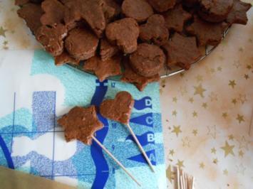 Leckere Lebkuchen-Lollis mit Schokoüberzug -  nicht nur für Kids :-) - Rezept