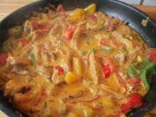 Paprikageschnetzeltes mit Backofenkartoffeln - Rezept