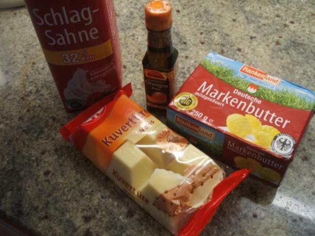 Vorrat: Orangen-Ganache aus weißer Schokolade - Rezept - Bild Nr. 2