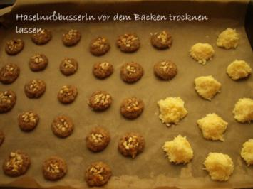 Haselnuss - Busserln und Kokosmakronen - Rezept