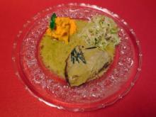 Iberico Schweinchen in Madeirasauce, Spitzkohlgemüse mit Speck, Karotten, und Süßkartoffel - Rezept