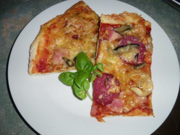 Schnelle Pizza Rezept Mit Bild Kochbarde
