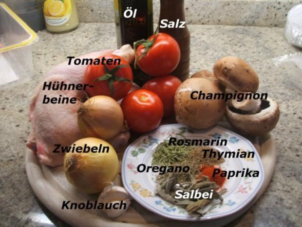 Geflügel: Marinierte Hähnchenschenkel aus dem Rohr mit Ofenkartoffeln - Rezept - Bild Nr. 2