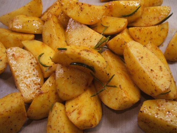 Geflügel: Marinierte Hähnchenschenkel aus dem Rohr mit Ofenkartoffeln - Rezept - Bild Nr. 14