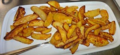 Kartoffelspalten (Wedges) aus dem Ofen - Rezept