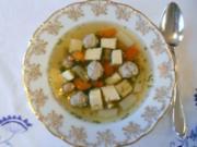 """""""Oma - Friede`s"""" - Ostpreußische Festtagssuppe (eine leichte Vorsuppe)  (Rzpt. um 1910) - Rezept"""
