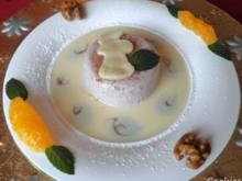 Glühwein - Mousse auf Marzipan - Soßenspiegel ... - Rezept