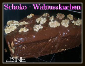 Rezept: BiNe` S SCHOKO - WALNUSSKUCHEN