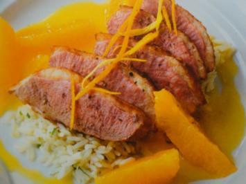 Rezept: Entenbrust mit fruchtiger Orangensauce