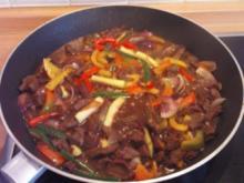 Chinesische Rindfleisch-Gemüse Pfanne - Rezept