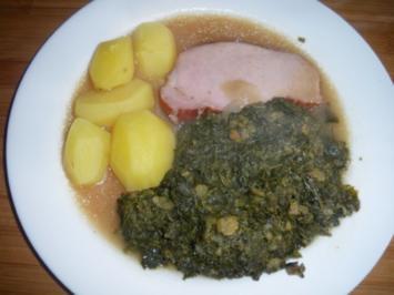 Kasseler mit Grünkohl und Kartoffeln - Rezept