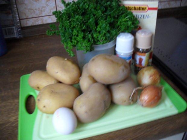 Kartoffelklöße halb und halb mit Petersilie - Rezept