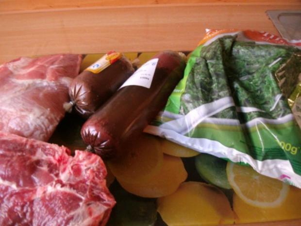 Grünkohl in Wurstsuppe gekocht mit dicker Rippe und Schweinekamm - Rezept - Bild Nr. 2