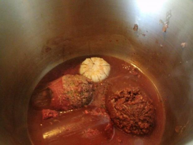 Grünkohl in Wurstsuppe gekocht mit dicker Rippe und Schweinekamm - Rezept - Bild Nr. 3