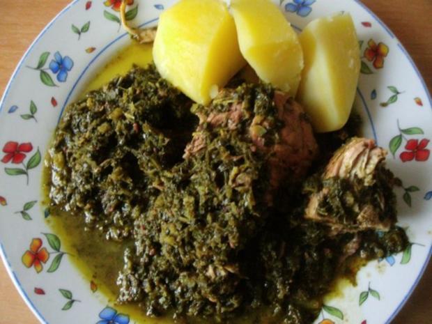 Grünkohl in Wurstsuppe gekocht mit dicker Rippe und Schweinekamm - Rezept - Bild Nr. 11