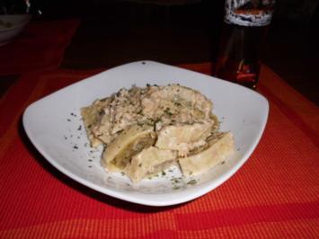 Maultaschen al Tonno e Cremas>> - Rezept