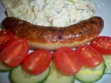kartoffelsalat nach holzapfels art mit bratwürstchen - Rezept