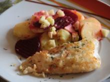 Kabeljau mit Rote-Bete-Kartoffelsalat - Rezept