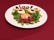 Gebratene Hummerkrabbe mit gratiniertem Ziegenkäse auf Rapunzel (Lisa Loch) - Rezept