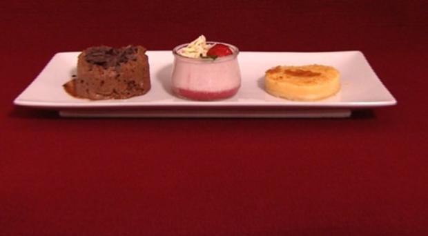 Mousse au Chocolat, Erdbeerkekscreme und Zitronentarte (Marie Nasemann) - Rezept