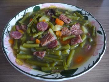 Suppen & Eintöpfe :  Grüne Bohnensuppe - Rezept
